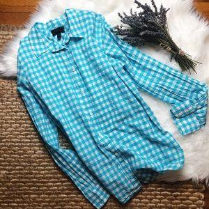 J.Crew Gingham Button Down Shirt Size 8
